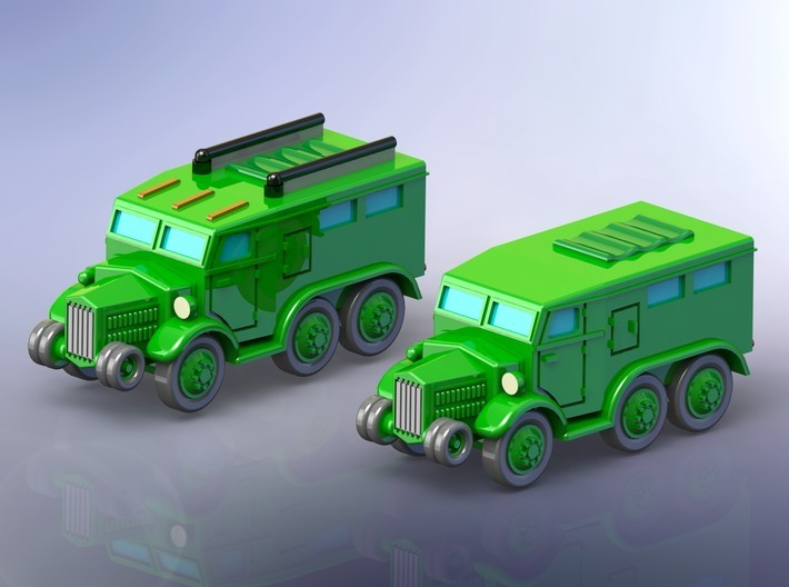 French Lorraine 28 Trucks 1/144 3d printed