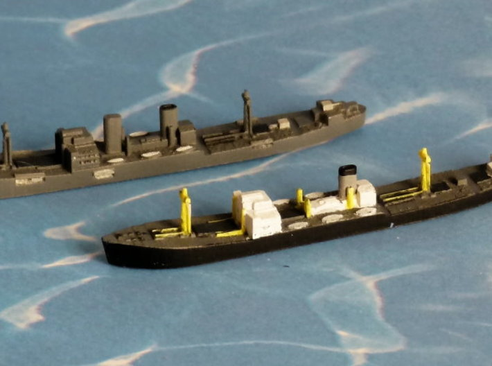 "German Auxiliary Cruiser HSK ""Pinguin"" 1/1800 3d printed Add a caption..."