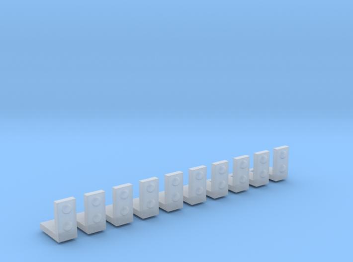 1/48 scale L bracket rivets outside 3d printed