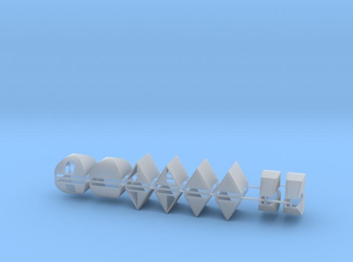 Zelte 16er Set ABC - 1:120 TT 3d printed