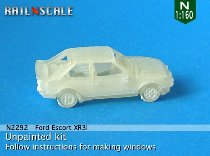 Ford Escort XR3i (N 1:160) 3d printed