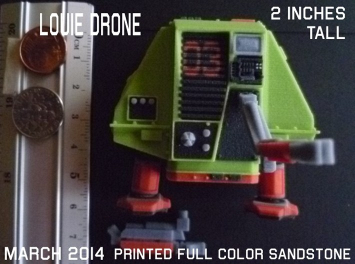 2 Inches DRONE 3 LOUIE Full Color 3d printed