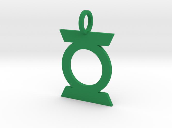 Green Lantern Pendant Ver. 2 3d printed