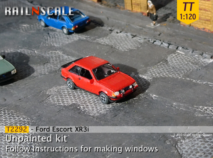 Ford Escort XR3i (TT 1:120) 3d printed