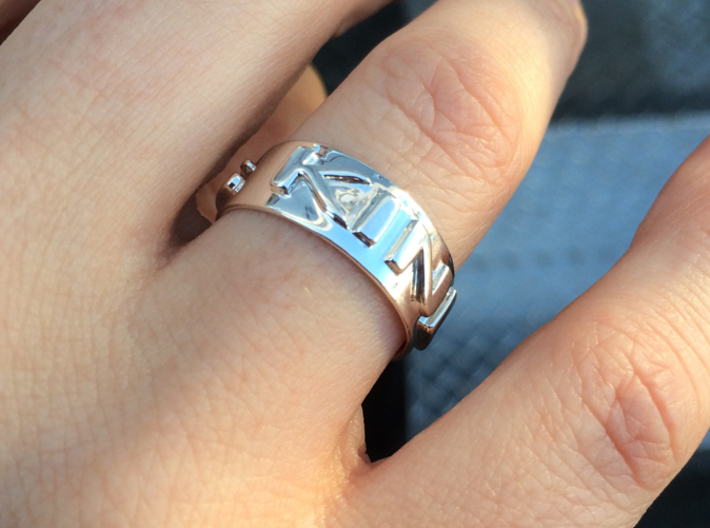 Kindness S8 3d printed Kindness ring size 8