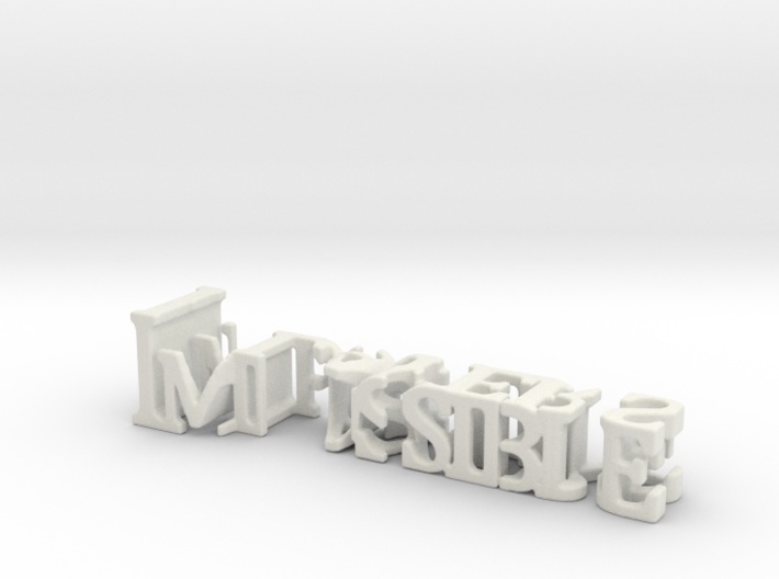 3dWordFlip: Impossible/Players 3d printed