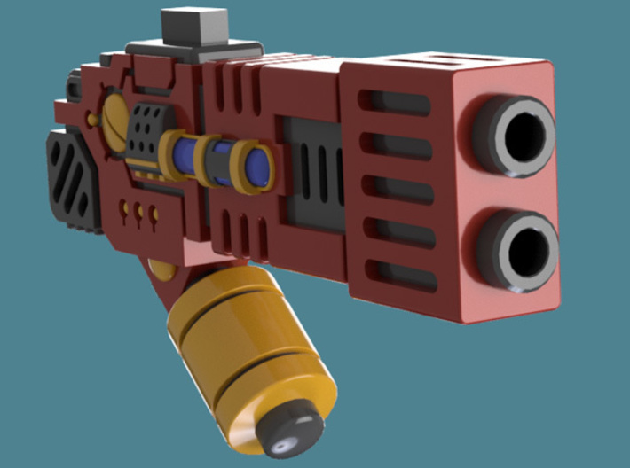 Fusion Blaster M1 bits, pack of 4/8/12/16 3d printed A single weapon render 2