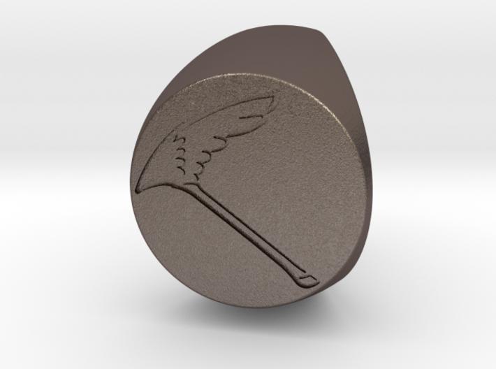 Custom Signet ring 66 3d printed