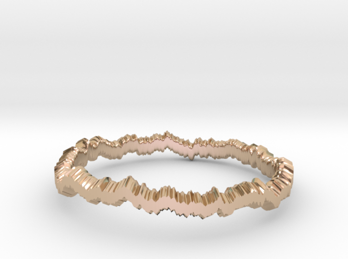 Brownian ring (US sizes 10 – 13) 3d printed