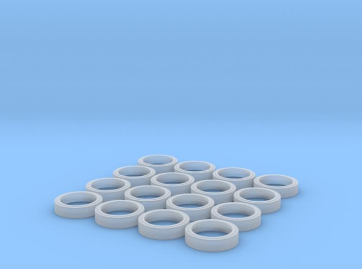 Tires & rims for Panda M1 Abrams kit (1/35) 3d printed
