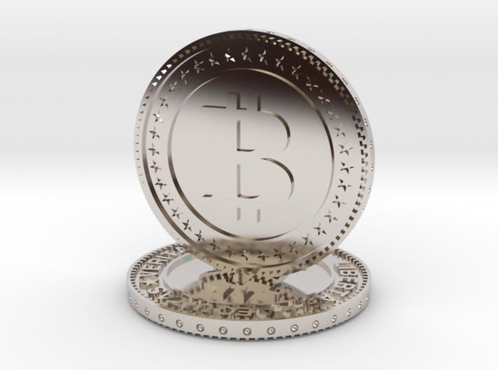 Sculpture bitcoin 3d printed