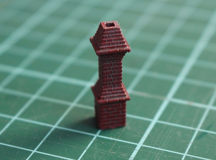 HO 10x Thurmont Station Chimney #1 3d printed Painted chimney