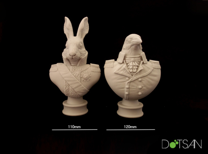Lord Crow Bust 3d printed