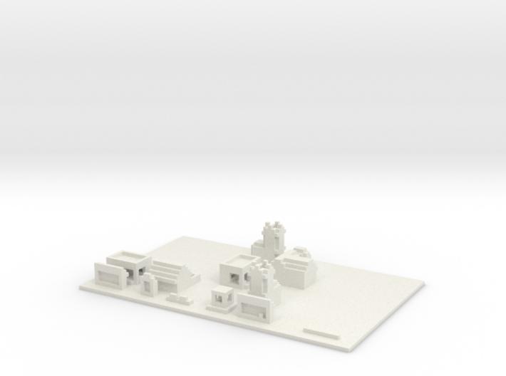 Minecraft village 3d printed
