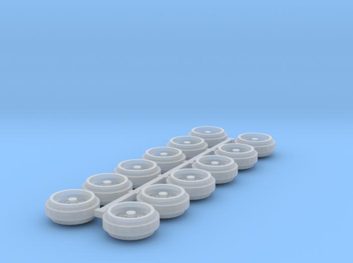 1/64 60s/70s Steel Rims (3 Sets) 3d printed