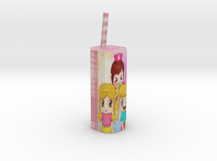 Juice Cylinder 3d printed Shapeways render of the model