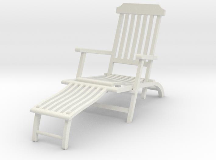 Deck Chair Ergonomic various scales 3d printed