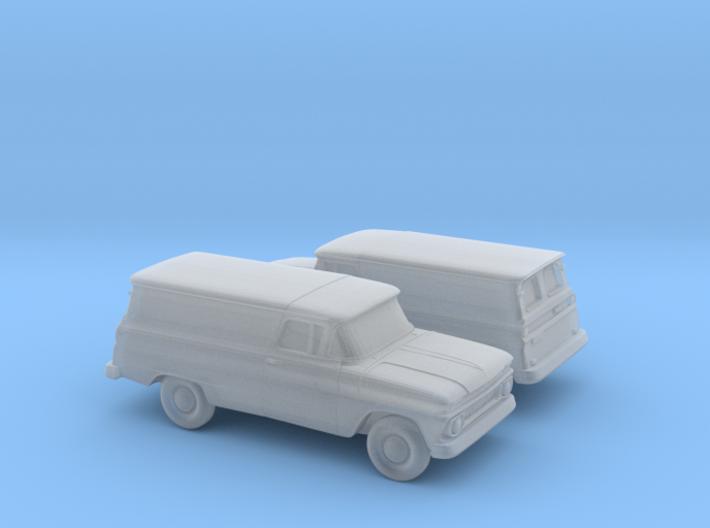1/160 2X 1962 Chevrolet Panel Van 3d printed