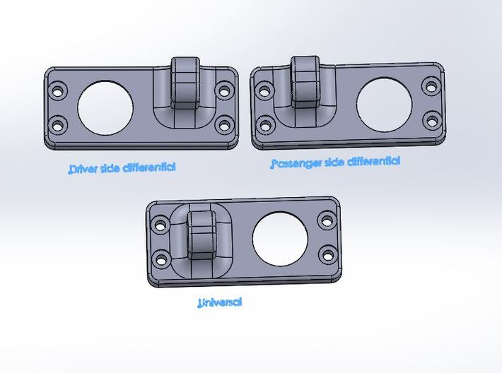 Driver side differential-front-upper-link-mount 3d printed