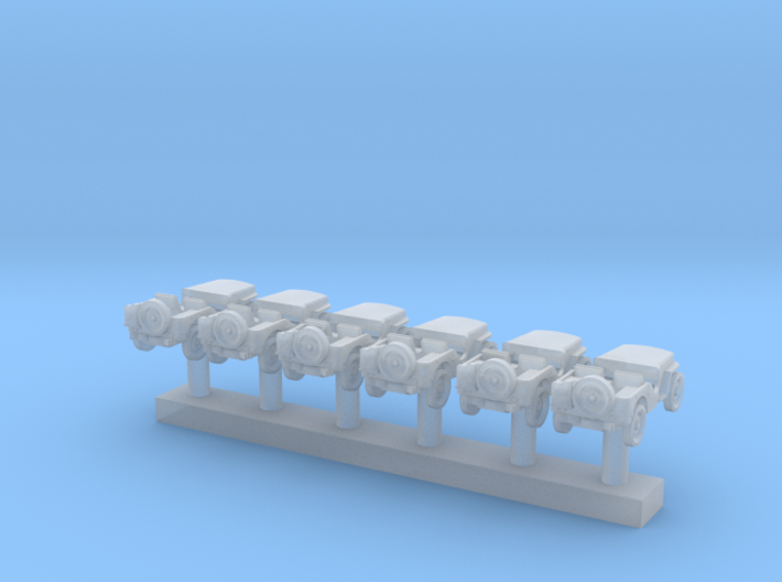 1:285 Scale Willys Jeeps (6x) 3d printed