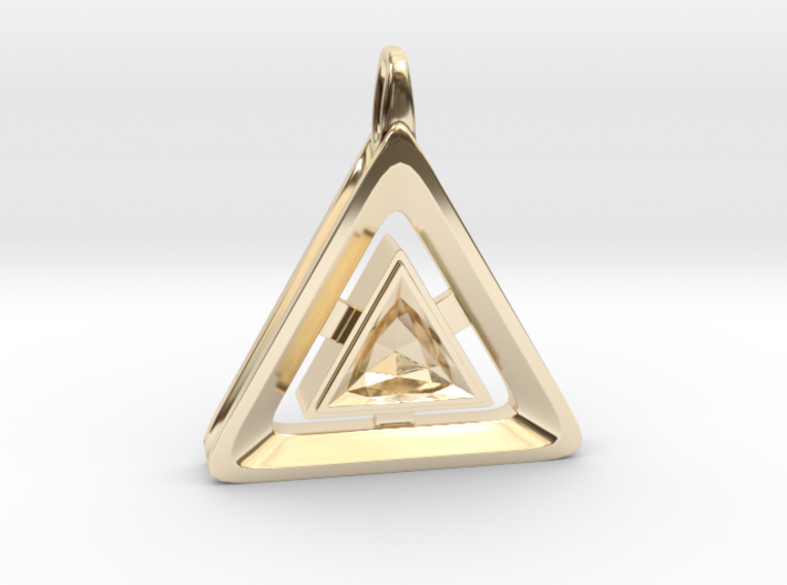 Origin ::: Triangle Pendant ::: v.01 3d printed