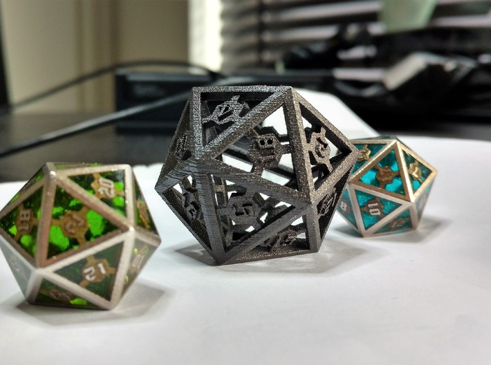 D20 Epoxy Dice extra large edition 3d printed Epoxy is not printed and has to be added later on by the customer