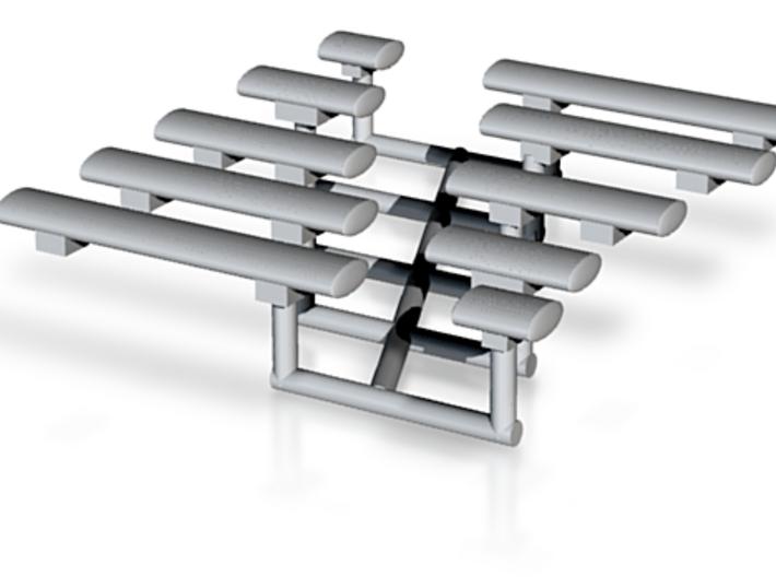 164th Oval Emergency Light bar set 3d printed