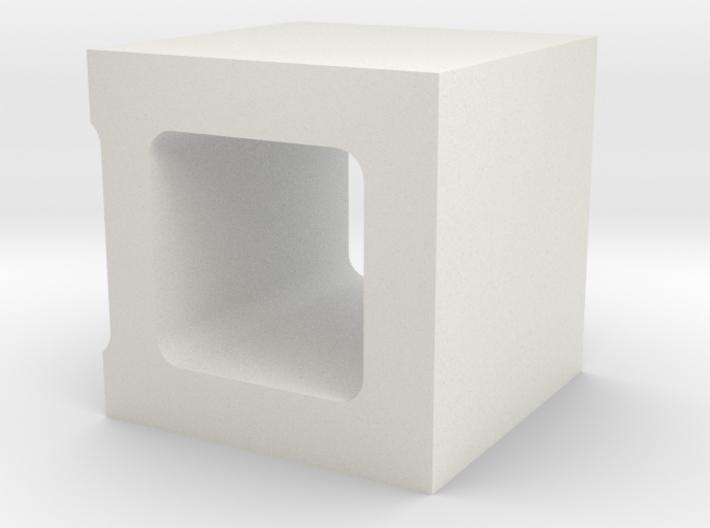 1/10 Scale Concrete 1/2 Block 3d printed