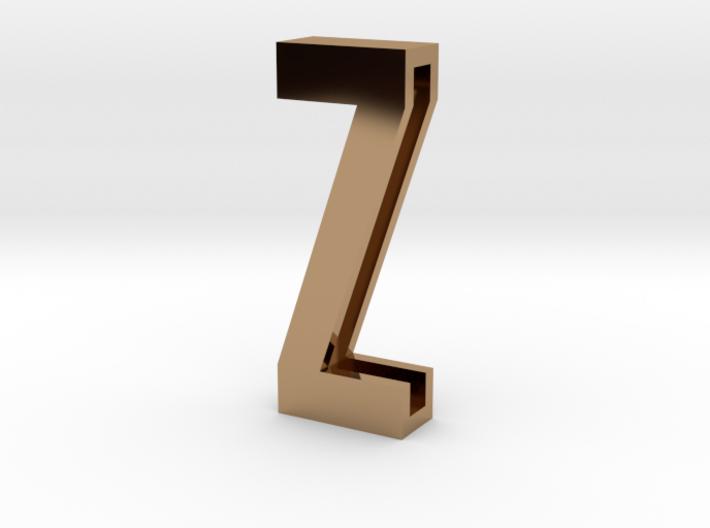 Choker Slide Letters (4cm) - Letter Z 3d printed