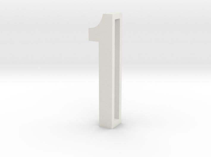 Choker Slide Letters (4cm) - Number 1 3d printed
