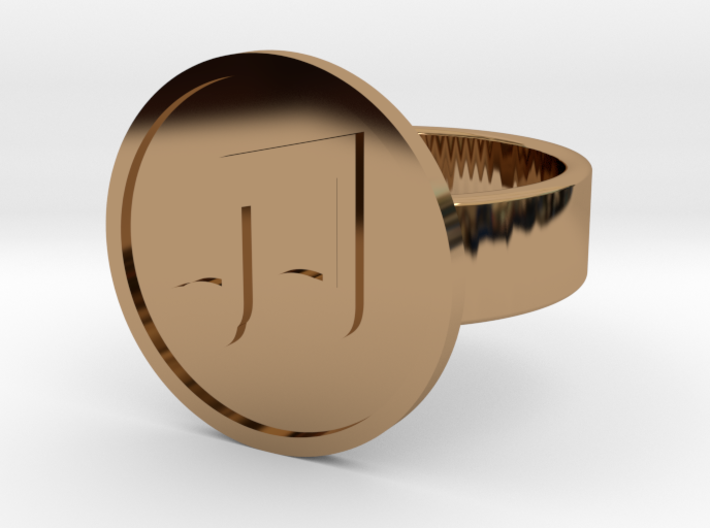Beamed 8th Notes Ring 3d printed