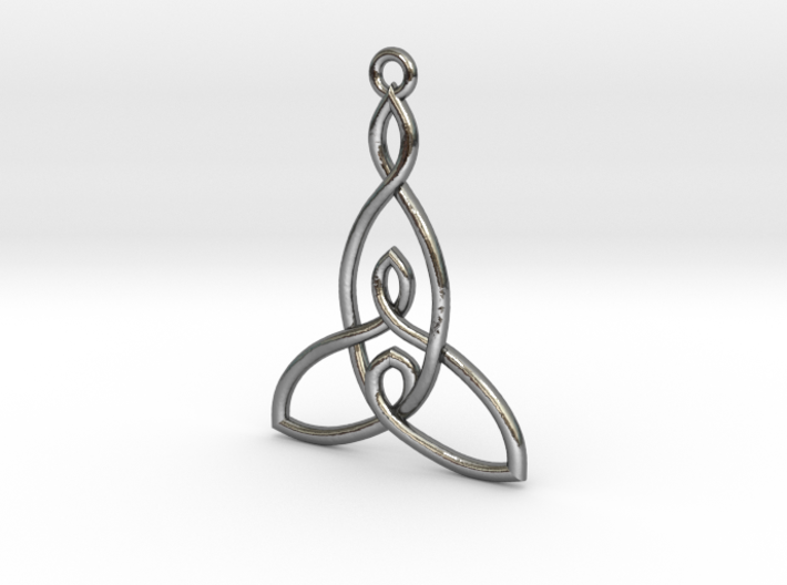 Mother and Two Children Knot Pendant 3d printed