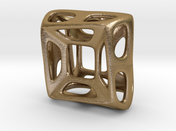 Nest ::: Square Pendant ::: v.01 3d printed