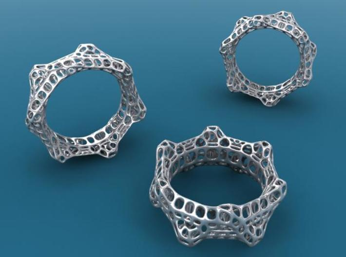 Wheelturning Ring 3d printed Silver render