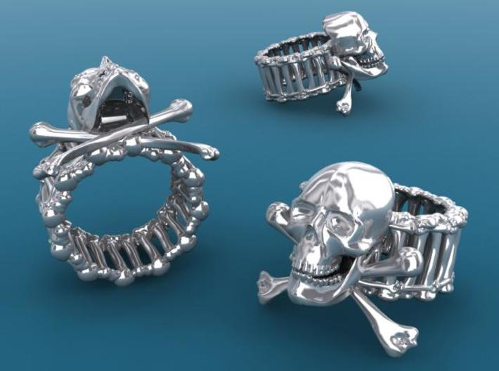 Skull ring 3d printed Description