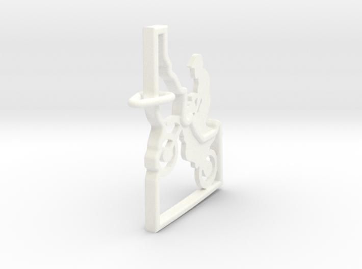 Idaho-Motorcycle-Keychain 3d printed