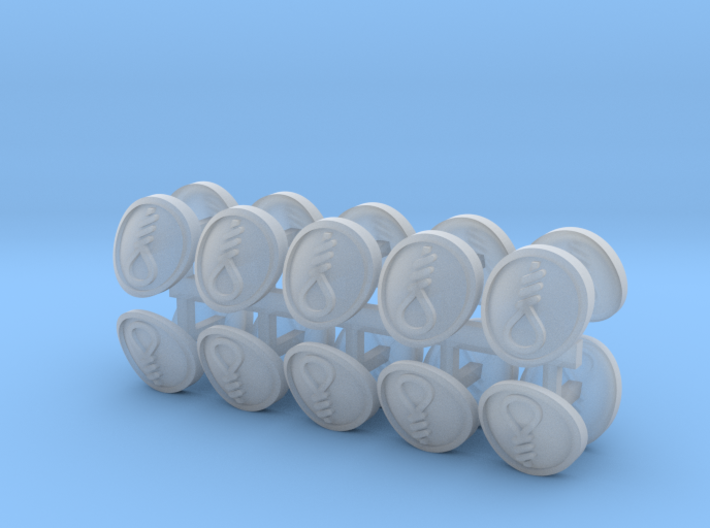 Commission 9 Shoulder Pad icons 3d printed