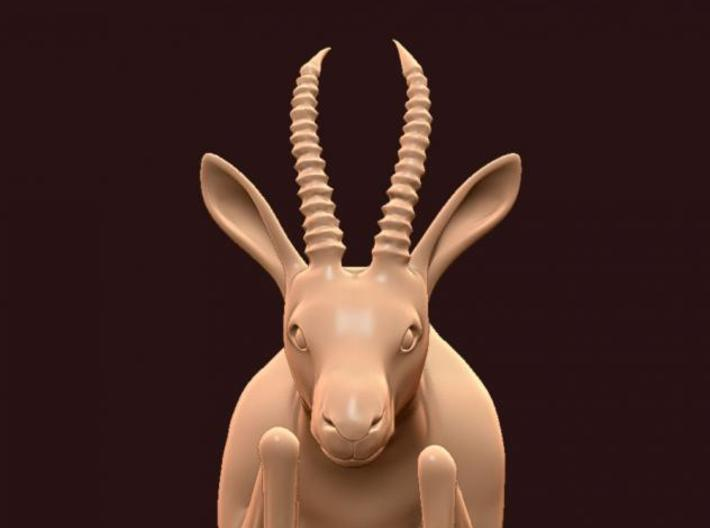 "3"" Gazelle Hanging Ornament 3d printed Description"