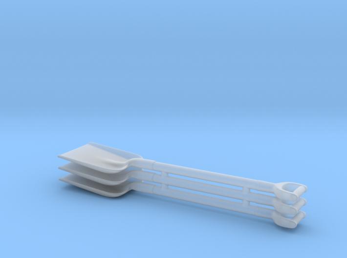 1/25 Square D-handle Shovels x3 3d printed