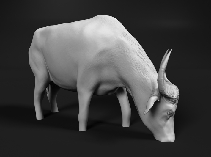Domestic Asian Water Buffalo 1:22 Grazing in Water 3d printed