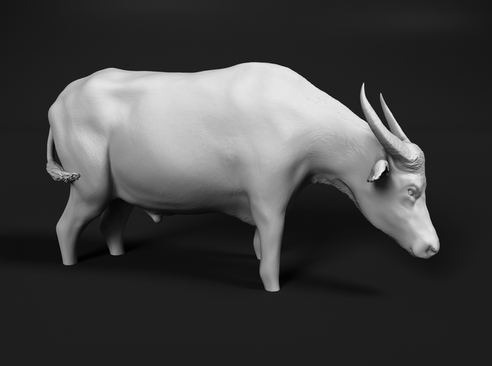 Domestic Asian Water Buffalo 1:20 Stands in Water 3d printed