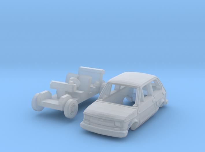 Fiat 126 Personal 4 (N 1:160) 3d printed