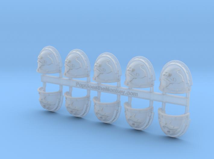 Mako Shark - G3 Shoulder Pads x10 3d printed