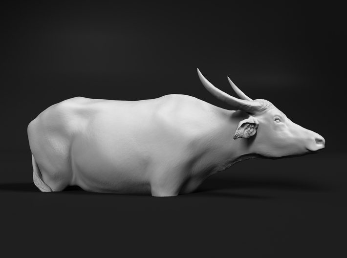 Domestic Asian Water Buffalo 1:48 In Deep Water 3d printed
