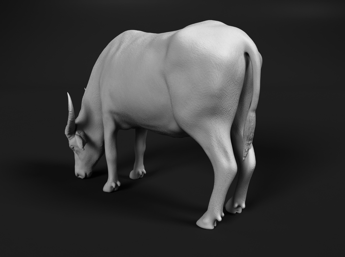 Domestic Asian Water Buffalo 1:45 Grazing Female 3d printed