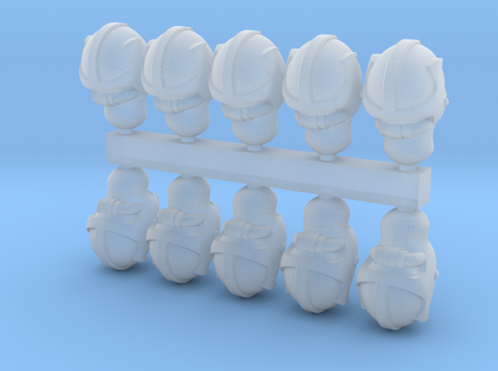 28mm space elf biker heads 3d printed