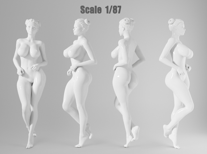 1:87 Sexy little girl in 2cm-004 3d printed