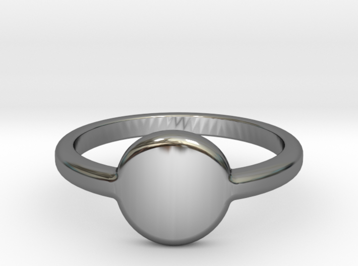 Ring with your initials 3d printed