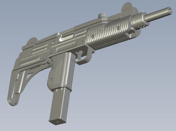 1/48 scale IMI Uzi submachineguns x 3 3d printed