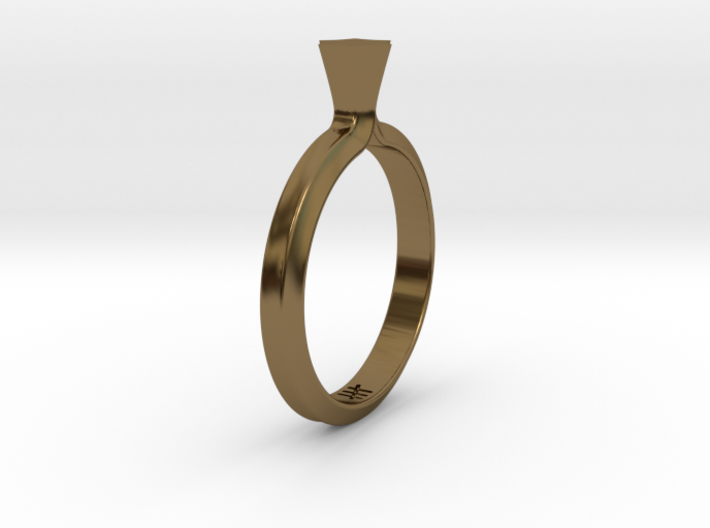 Shapesweeper Hexagonal Lofted Ring 3d printed